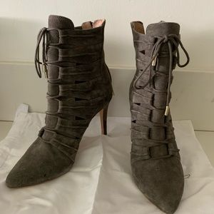 Joie Lace up Suede Booties